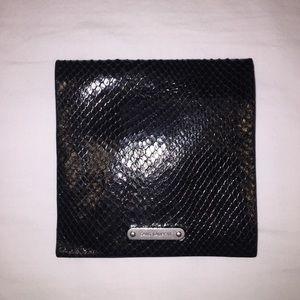 Black Snakeskin Embossed Passport Holder
